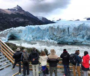 Ya comenzó la ruptura de glaciar Perito Moreno