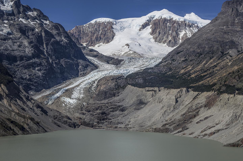 El dramático retroceso del glaciar Calluqueo, Monte San Lorenzo