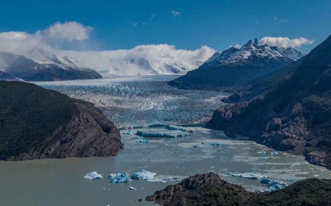 Desprendimientos del Glaciar Grey