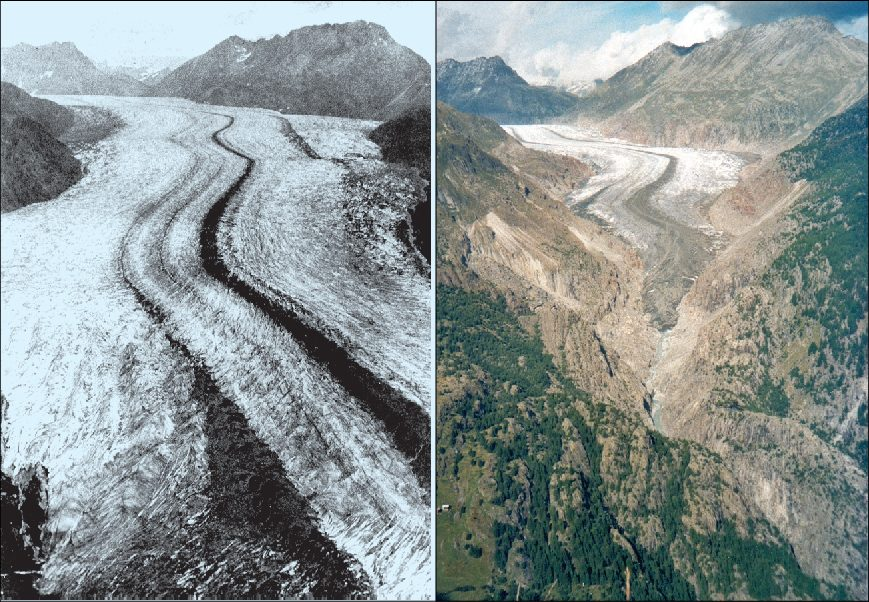 Glaciers in the European Alps projected to extinction by 2100