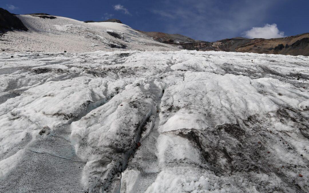 Los glaciares del Complejo Volcánico Nevados de Chillán
